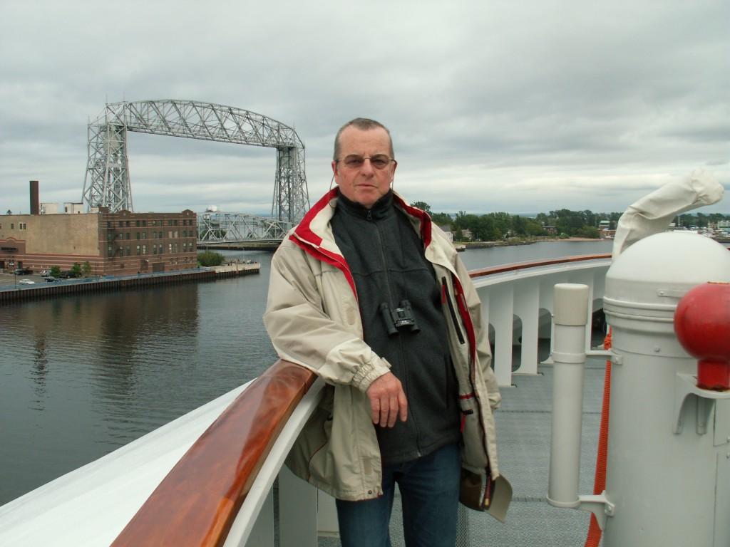 Horst Gennert an Bord der C.COLUMBUS (Hapag Lloyd) in Duluth, Minnesota